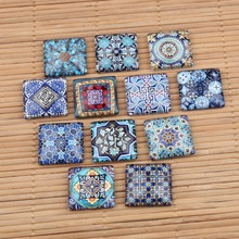 Buy reidgaller mixed pattern photo square glass cabochon 10mm 12mm 20mm 25mm diy flatback dome jewelry findings for $4.51 in AliExpress store