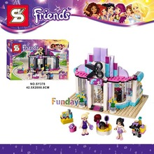 Girl Friends POP STAR Heartlake Pop Hair Salon The Dressing Room Show Stage Car Party Building Blocks Model Toys