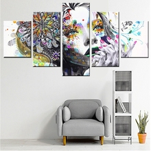 Best Sale Tatto Flower Girl Pretty Graffiti Canvas Painting Color Fashion Gift Wall Art for Home Decor High Quality Wholesale