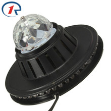 ZjRight 3W Full Color LED Light Sunflower Bulb Lamp Auto Rotating MP3 Crystal Stage Light DJ KTV Club Family party effect light