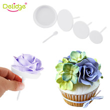 Delidge 4 pcs/Set Flower Needle Nail Baking Tools Cake Decoration Needle Cupcake Stand Icing Cream Decorating Tool(China)