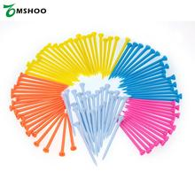 100pcs 43/55/70/81/100mm Plastic Golf Ball Tee Golfer Aid Tool Mixed Color Golf Holders Training Aid Outdoor Sports Equipment