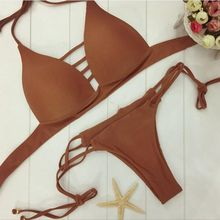 1 Set Spring Summer Fashion  Sexy Women Padded Bra Bandage Swimsuit Lady Push-up Bikini Swimwear Beachwear 4 Color For Choose