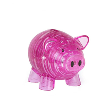 EBOYU(TM) 3D Crystal Puzzle Piggy Bank Model DIY Building Toy Gift Gadget for Kids Christmas Gift