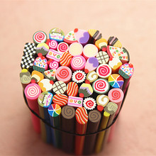50pcs Nail Art Fimo cute dream dessert  Canes Rods Sticks Sticker Tips Decoration Also for Mp3 Phone PC