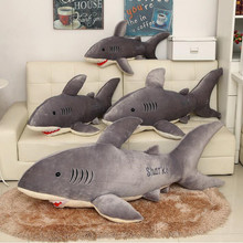 Brave Plush Kids Hawaii Shark Pillow White Shark Plush Toy Giant Stuffed Animal Juguetes Birthday Gifts for Children Brinquedos