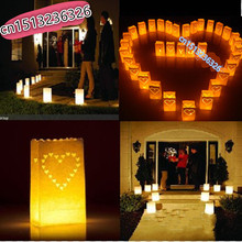 20pcs/lot  NEW Heart light Holder Luminaria Paper Lantern Candle Bag For Party Home Outdoor Wedding Decoration