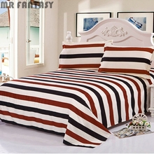 7 Style Comfortable Bed Sheet Aloe Cotton Fitted Sheet+2 Pillowcases Bedding Set GJT9084