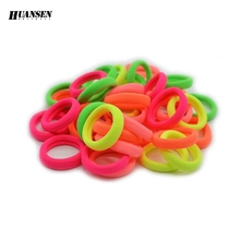 HUANSEN 40pcs/lot Grils hair band Elastic for the hair Nice 95% Nylon Scrunchy Gum for hair accessories headwear(China)