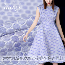 Export Italian high - grade jacquard brocade fabric gradient wave point three - dimensional jacquard fabric jacquard cloth(China)