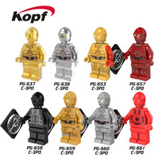 Single Sale Super Heroes New Comics Star Wars Protocol Droid C3PO C-3PO Bricks Action Building Blocks Toys for children PG8023
