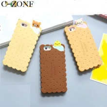 C-ZONE For iPhone 6 6s 6Plus 6s Plus Rilakkuma Biscuit Phone Case Brown Bear Cookie Phone Cover Case For iPhone 7 7Plus 8 8 Plus