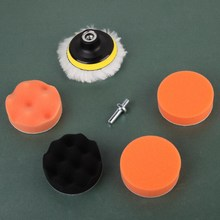 7 Pcs Car Polishing Wheel Kit Buffer + M14 Thread Drill Adaptor thread 3 inch Buffing Pad Auto For car polishing and buffing(China)