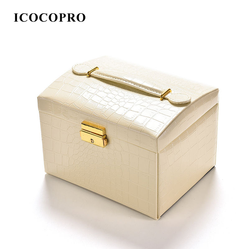 ICOCOPRO Jewelry Organizer Ring Holder Cases Packaging Gift Box Jewelry Display Stand Casket for Women Decorations Jewelry Box(China (Mainland))