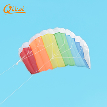 Rainbow Stunt Kite Handle Line Reel Sport Kites Kitesurf Paraglider Parachute Windsock Easy To Fly Toy Gift For Kids Outdoor Fun(China)