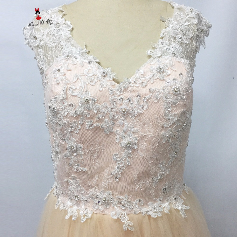 a2c566def13 Gelinlik Indian Champagne Wedding Dresses 2017 Vestido de Noiva Vintage  Bride Dress Lace Pears A Line