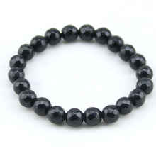 Section Onyx Women's Beaded Bracelets Black Onyx Natural Stone Handmade Brecelets for Men Jewelry Femme Relogio(China)