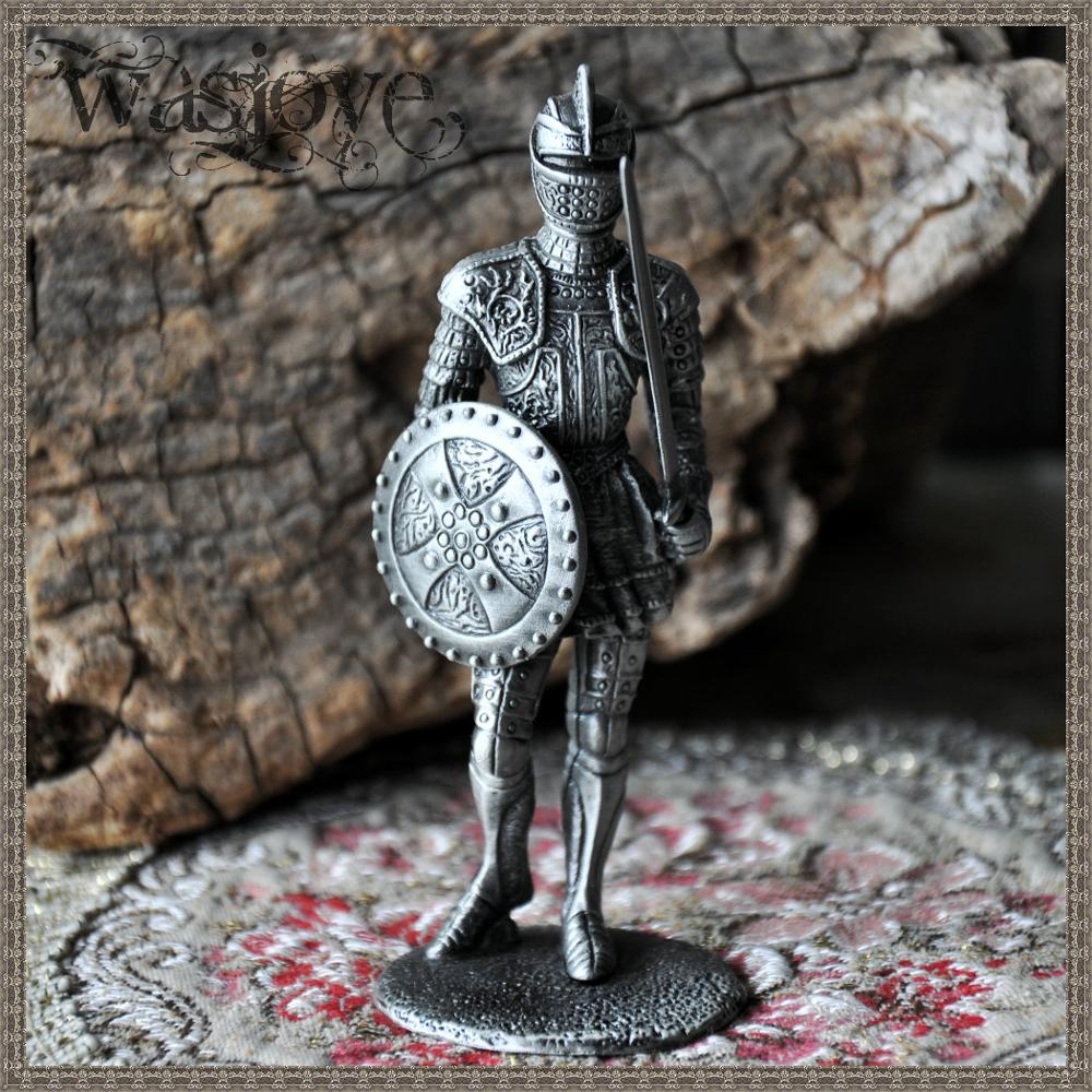 Classical European Tin Warrior Soldier Gift Ornaments Home Club Table Decoration<br>