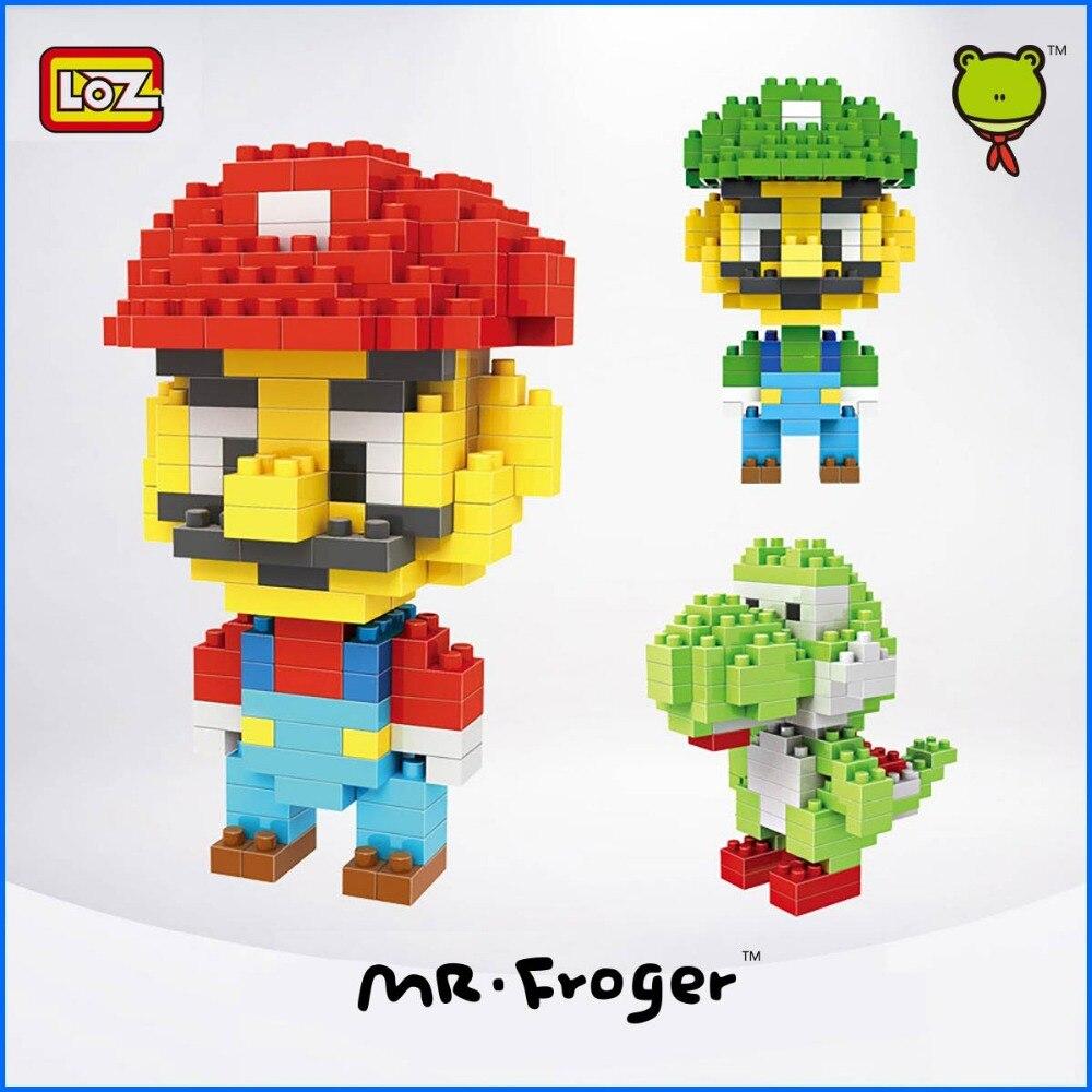 Mr.Froger LOZ Super Mario mini blocks Small particles building block toy brick Bros Luigi Yoshi gift Decoration<br><br>Aliexpress