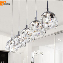 new modern design crystal pendant lights G4 luminare lustre dinning room lamp bar light