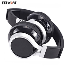 YES-HOPE Wireless Headphones Bluetooth Headset Stereo foldable Sport Earphone Microphone Gaming Cordless Auriculares Audifonos(China)