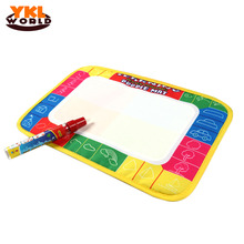 Hot 29X19cm 4 color Colorful Water Drawing Toys Painting Play Mat Doodle Mat With 1 Magic Pen Water Drawing Board for Baby -45
