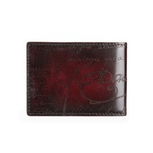 TERSE_Handmade driver card license in 3 colors genuine leather luxury card wallet with engraving license card holder for male