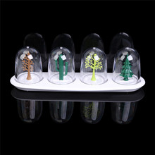 4Pcs Four Seasons Tree Seasoning Shaker Casters Spice Box Tableware Cooking Gadgets Home Decor Kitchen Accessories