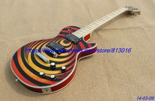 Hot ! custom-made electric guitar LP zak model body top cherry burst color ,maple neck ,chrome parts!(China)
