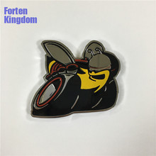 Forten Kingdom 1PC Fit for Challenger SRT Big Yellow Super Bee Logo Emblem Metal Custom Auto Badge Vehicle Sticker(China)