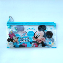 2 pcs/lot Cartoon Mickey mouse pencil case for kids gift Lovely PVC pen bag korea stationery pouch office school supplies