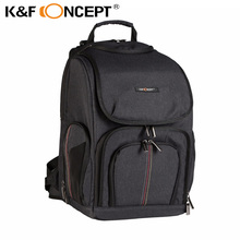 K&F CONCEPT Camera Backpack Bag Case for Canon for all DSLR Cameras fits 1 Camera + Multiple lenses w Rain Cover free shipping(China)
