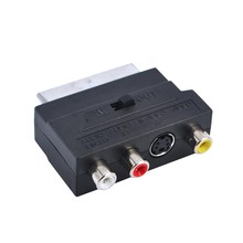 SCLS Hot Selling RGB Scart to Composite RCA S-Video AV TV Audio Adapter Brand New Wholesale