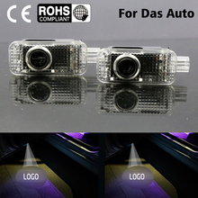 2 LED Car door courtesy laser projector Logo Ghost Shadow Light FOR Volkswagen VW Passat B5 B5.5 Phaeton(China)