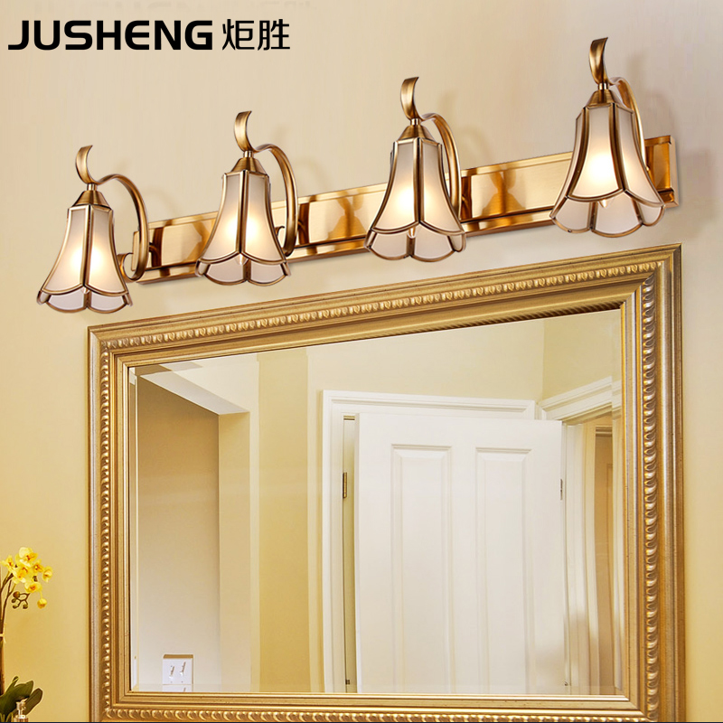 Antique Traditional Style indoor Wall Lamps in Bathroom Top Mirrors Sconces Light with E14 Socket 110V / 220V AC