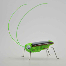 New Kids Solar Toys Energy Crazy Grasshopper Cricket Solar Powered Green Robot Insect Bug Locust Grasshopper Gadget for Children