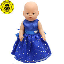 Baby Born Doll Clothes fit 43cm Baby Born Zapf Doll 17inch Doll Accessories Handmade Child Birthday Gift 004(China)