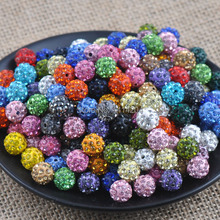 10mm 100pcs Mixed color  Disco Ball Beads Crystal Shamballa Beads Fit Jewelry Handmade XB-10