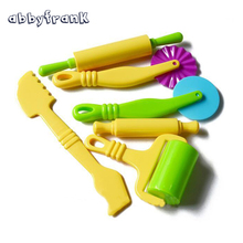 Abbyfrank 6Pcs Polymer Clay Playdough Mold Mould Handgum Mud Sand Tool Intelligent Plasticine Plasticine Fimo Polymer Clay Tool