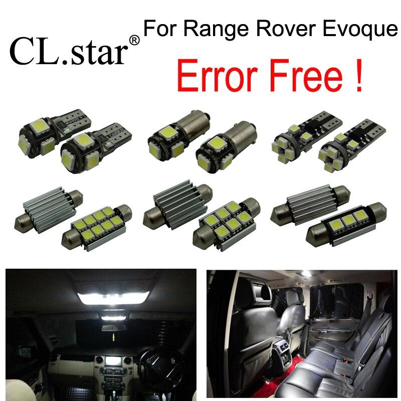 16pcs canbus error free interior bulb LED light kit package for Land Rover for Range Rover Evoque (2012-2013)<br>