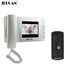 JERUAN Home 4.3 inch Color Wired Video door phone bell intercom system kit Night vision pinhole Camera FREE SHIPPING
