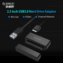 ORICO Tool Free 2.5 inch Hard Drive SSD Adapter USB3.0 Type-A to Micro B SATA3.0 HDD Adapter Cable JMS578 Chip Dust-proof