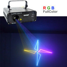New SHINP RGB ColorFul Animation 12CH DMX 512  Laser Lights Scanner DJ Party KTV Disco Projector Show Stage Lighting AL-460RGB