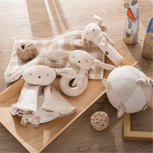 Baby Organic Cotton Animal Toy Ball Baby Hand Grasping The Ball Puzzle Education Plush Toys(China)