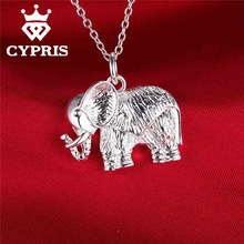 PROMOTION Promotion silver  Fashion fancy  Stone Elephant Pendant Charm Necklace 18inch  women men Indian Wholesale Price CYPRIS