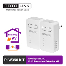 PLW350 KIT-150Mbps AV200 Wi-Fi Powerline Extender KIT English Version in twin package(China)