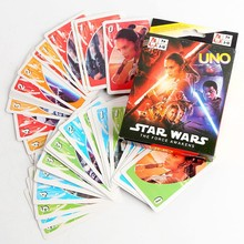 10 Packs/lot Star Wars : The Force Awakens UNO Game Card Collection Cards Wholesale
