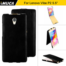 iMUCA Case For Lenovo P2 Case Cover Flip Leather Case Capa Protective Back Cover Coque for Lenovo Vibe P2 Phone Cases & Covers(China)