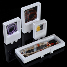 Popular Acrylic Jewelry Display Set Necklace Display Stand Bracelet Holder Ring Pendant Storage Box Jewellry Case 4pcs/set(China)