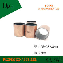 Buy 10Pcs SF1 SF-1 2530 252830 Self Lubricating Composite Bearing Bushing Sleeve 25*28*30mm Free shipping High Quality
